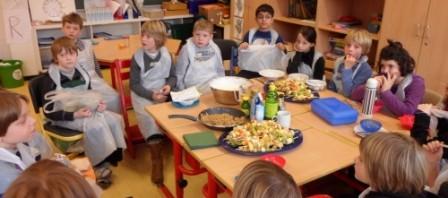 Kochworkshop der dritten Klassen